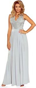 7135a9326577c6 Sukienka NUMOCO rozkloszowana bez rękawów z dekoltem w kształcie litery v