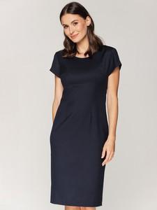 Granatowa sukienka Bialcon midi