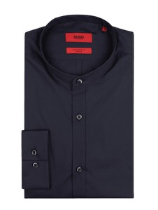 Granatowa koszula Hugo Boss ze stójką
