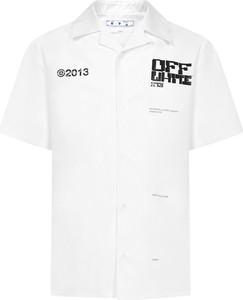 Koszula Off White w bożonarodzeniowy wzór z bawełny