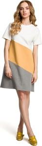 Sukienka MOE z bawełny z krótkim rękawem mini