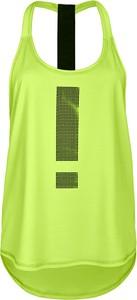 Zielony top FJ! z nadrukiem w sportowym stylu z okrągłym dekoltem
