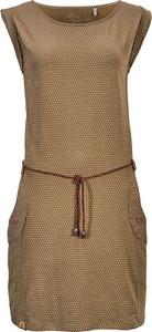 Brązowa sukienka G.i.g.a. z bawełny mini bez rękawów