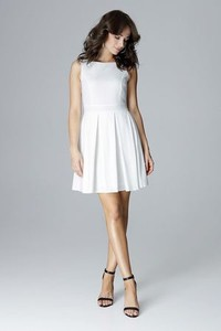 Sukienka LENITIF mini dla puszystych z okrągłym dekoltem