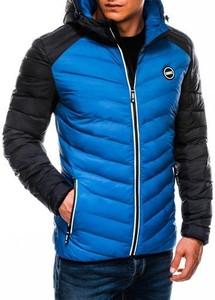 Niebieska kurtka Ombre Clothing w stylu casual