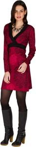 Sukienka Aller Simplement z dekoltem w kształcie litery v z długim rękawem z bawełny