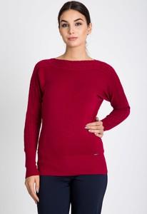 Czerwony sweter QUIOSQUE w stylu casual