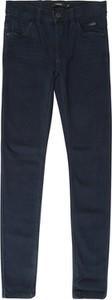 Granatowe spodnie dziecięce Name it z jeansu