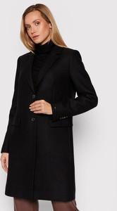 Czarny płaszcz Tommy Hilfiger z wełny