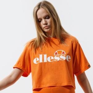 Bluzka Ellesse z okrągłym dekoltem w sportowym stylu z krótkim rękawem