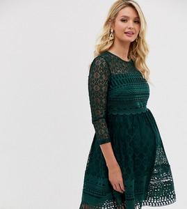 Zielona sukienka Asos z okrągłym dekoltem