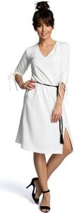 Sukienka Be w stylu casual z krótkim rękawem z dekoltem w kształcie litery v