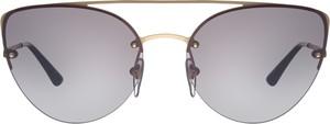 Złote okulary damskie Vogue