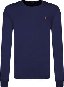 Niebieska koszulka z długim rękawem POLO RALPH LAUREN z długim rękawem