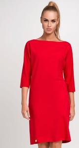 1381f025ad Sukienka Makadamia w stylu casual midi z długim rękawem