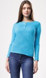 Niebieska bluzka born2be z długim rękawem