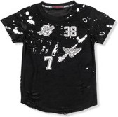 Czarna koszulka dziecięca Ombre Clothing z bawełny