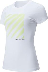 Bluzka New Balance z okrągłym dekoltem z bawełny w sportowym stylu