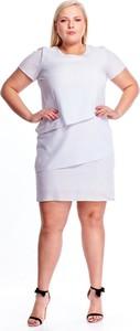 Sukienka Fokus wyszczuplająca mini z krótkim rękawem
