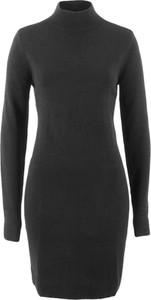 Czarna sukienka bonprix bpc bonprix collection bez wzorów