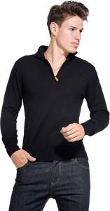 Czarny sweter William De Faye
