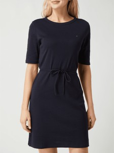 Czarna sukienka Tommy Hilfiger z krótkim rękawem w stylu casual mini