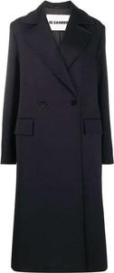 Granatowy płaszcz Jil Sander