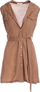 Sukienka Multu bez rękawów z dekoltem w kształcie litery v