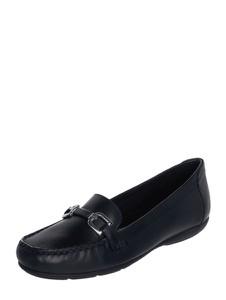 Czarne półbuty Geox z płaską podeszwą w stylu casual