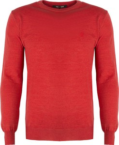 Czerwony sweter Roberto Cavalli