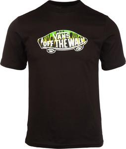 Czarny t-shirt Vans w młodzieżowym stylu