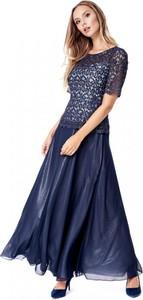 Niebieska sukienka POTIS & VERSO z szyfonu