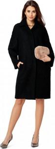 Czarny płaszcz POTIS & VERSO w stylu casual