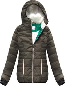 Brązowa kurtka Go-Start w stylu casual krótka