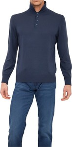 Niebieska koszulka z długim rękawem Z Zegna z długim rękawem