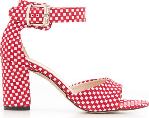 Czerwone sandały Zapato na obcasie z zamszu