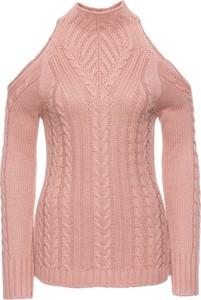 Różowy sweter bonprix bodyflirt boutique