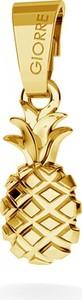 GIORRE SREBRNY CHARMS ZAWIESZKA BEADS ANANAS SREBRO 925 : Kolor pokrycia srebra - Pokrycie Żółtym 24K Złotem, Wariant - Zawieszka