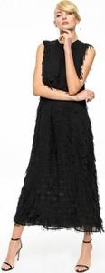 Aneta kręglicka x l'af długa sukienka z frędzlami 3d ak etno 3
