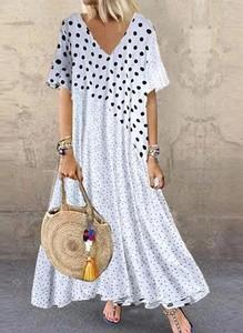 Sukienka Cikelly z dekoltem w kształcie litery v maxi z krótkim rękawem