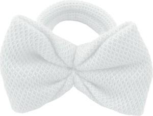 Sówka.net.pl Sówka gumka do włosów z kokardką - biały
