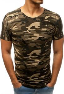 Zielony t-shirt Dstreet w militarnym stylu