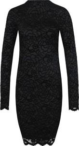 Sukienka Guess Jeans z okrągłym dekoltem z długim rękawem
