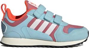 Buty sportowe dziecięce Adidas z zamszu na rzepy