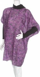 Fioletowa sukienka Anna Sui z długim rękawem w stylu casual z golfem