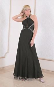 Sukienka Fokus maxi z dekoltem typu choker bez rękawów