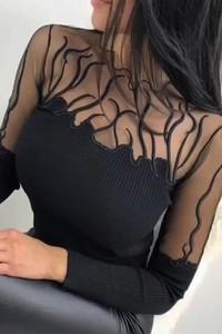 Czarna bluzka Ivet.pl z bawełny