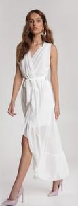 Sukienka Renee bez rękawów asymetryczna z dekoltem w kształcie litery v