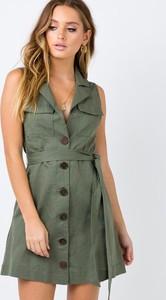 Zielona sukienka Ivet.pl mini w stylu casual