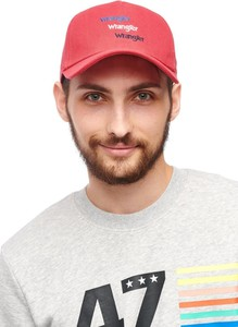 Czerwona czapka Wrangler